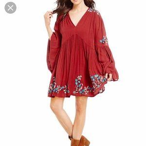 Free People Te Amo Flared Sleeve Mini Dress sz med